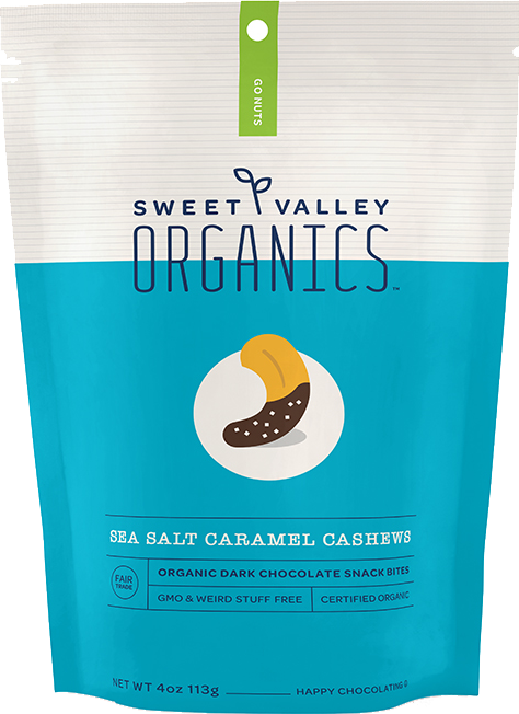 Dark Chocolate Sea Salt Caramel Cashews packaging