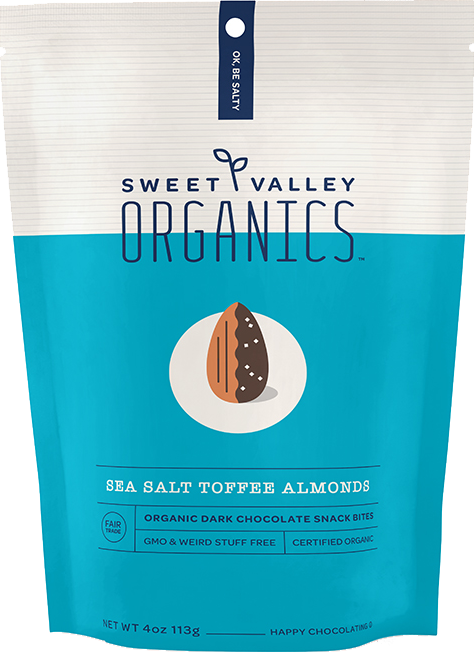 Dark Chocolate Sea Salt Toffee Almonds